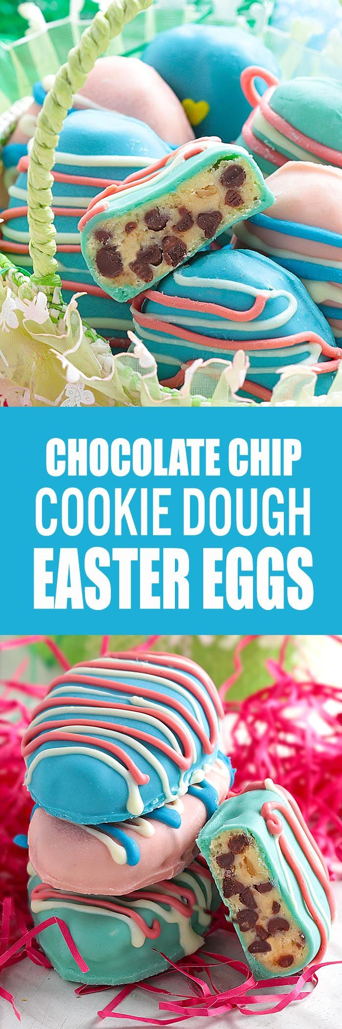 I promise that no one will be disappointed if they find these Easter Egg Cookie Dough Truffles in their baskets Easter morning!