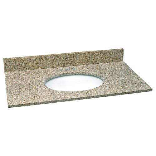 Design House 552497 Ventura Golden Sand Single Bowl Granite Vanity