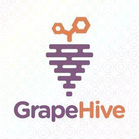 Exclusive Customizable Logo For Sale: Grape Hive | StockLogos.com https://stocklogos.com/logo/grape-hive