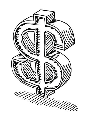 US Dollar Sign Drawing