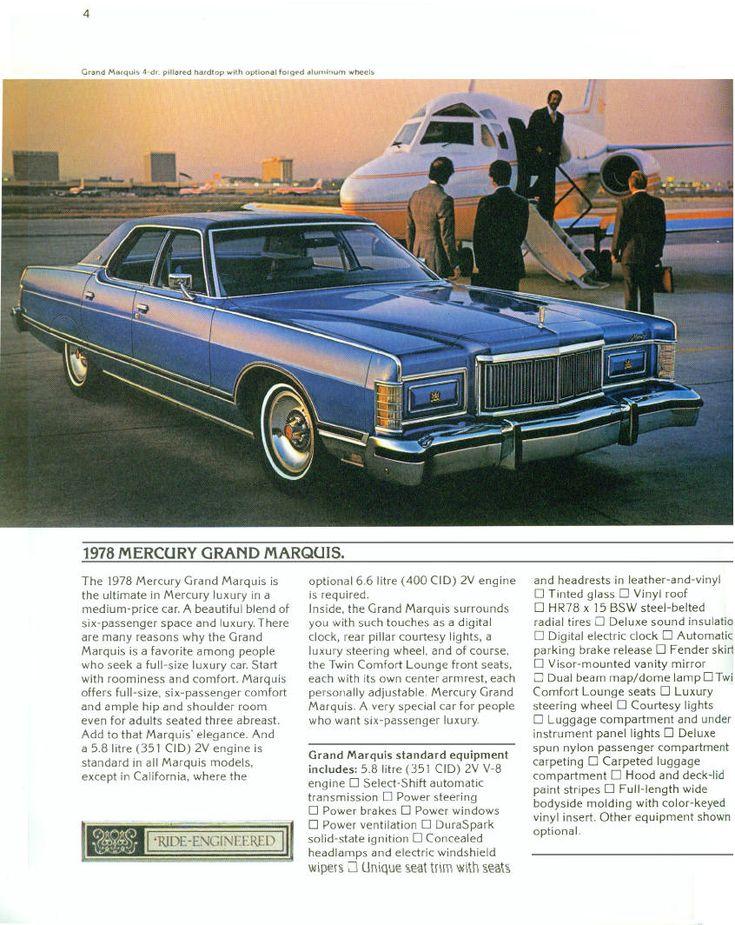 1978 Mercury Marquis Four Door Pillared Hardtop