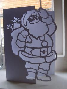 FATHER CHRISTMAS 2 OVER THE EDGE CARD - gsd file