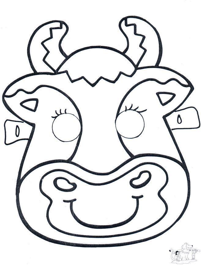 cow mask theater knutselen theater knutselen in 2020