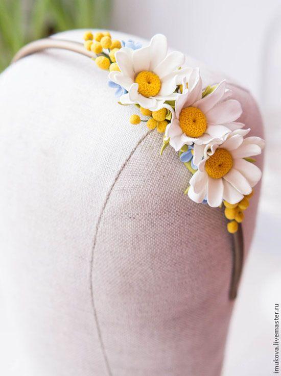 Цветочные ободки из полимерной глины Дарьи Имуковой