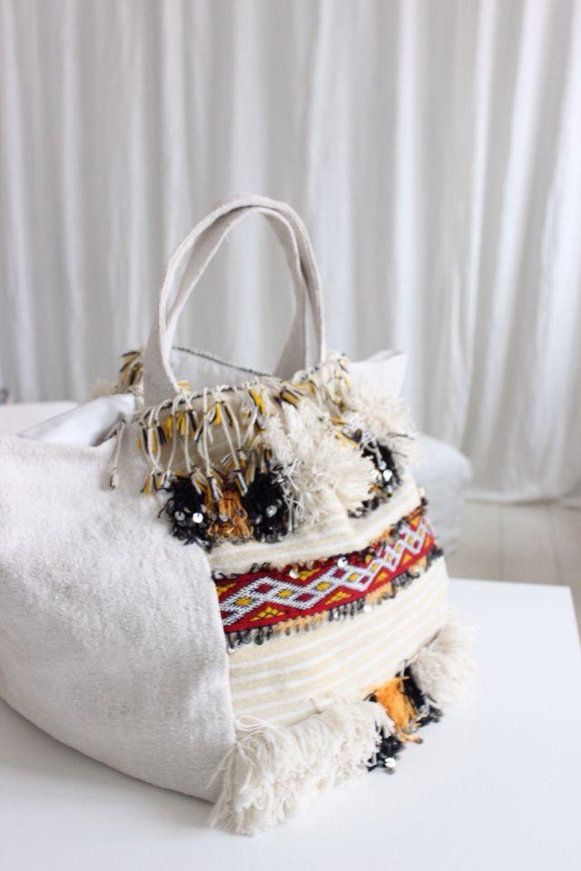 White Embellished Bag