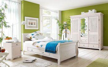 Спальня белый - мебель из сосны - цена по запросу