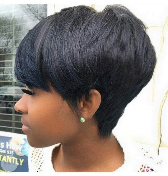 I love the longer pixie with the tapered look in the back. Great for keeping my hair off my neck during the summer!