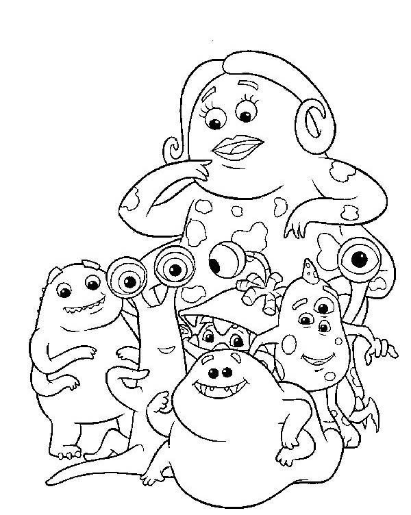 49 best Monster Inc Coloring Pages images on Pinterest | Coloring ...