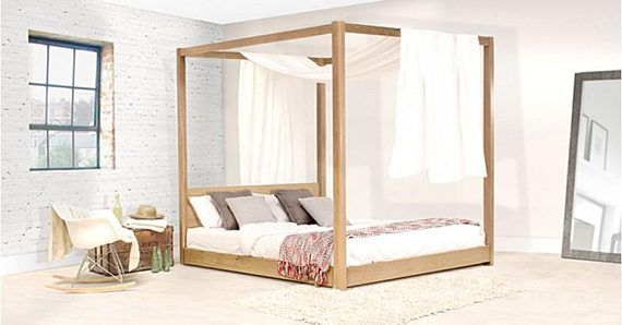 Low Four Poster Wooden Bed Frame By Get Laid Beds Four Poster