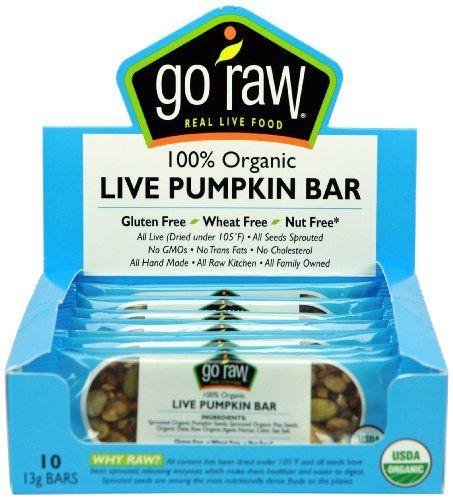 Go Raw Live Pumpkin Bar, 10 - 13 gram Bars