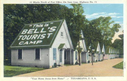 pictures of texarkana texas/arkansas | Bell's Tourist Courts - Texarkana - 1932