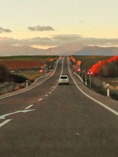 Camino hacia la  Sierra madrileña