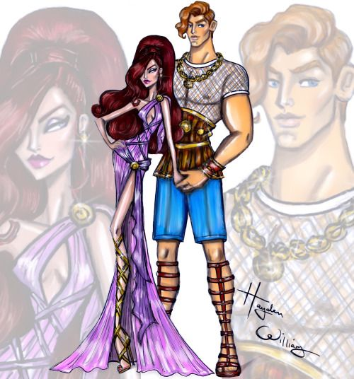 'Disney Darling Couples' by Hayden Williams: Hercules & Megara