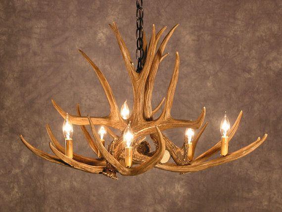Luminaire en bois de cerf   www.gabrielcouture.ca