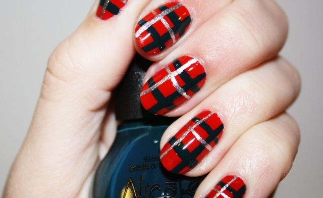Fabulous nails - perfect for Burns Night
