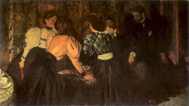 Józef Mehoffer - Rozmowa, 1896