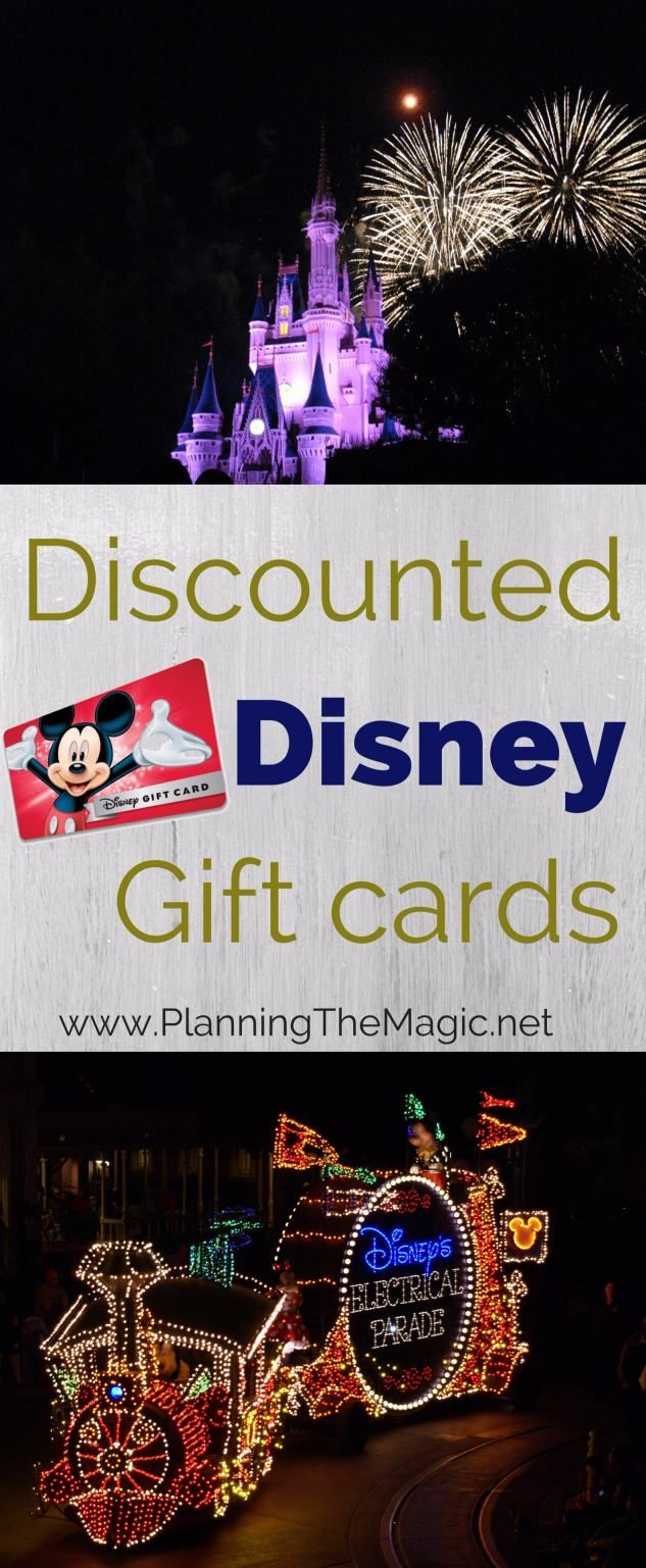 Discounted Disney Gift Cards 2018 | Use these tips to get the best Disney gift card deals for your Disney vacation.  Find more information at www.PlanningTheMagic.net