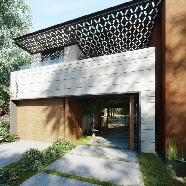 Very well done house with garage at front which is really hard to do without it taking over the elevation.  Beautiful entrance and quite stunning sun shade.