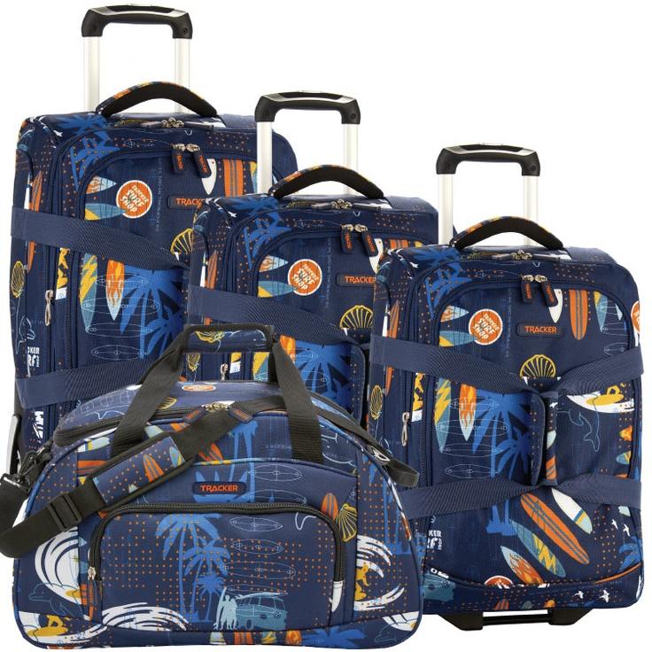 Tracker Surf S Up Luggage Set Travel Essentials