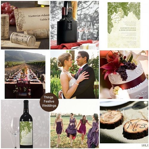 Vineyard wedding theme inspiration http://thingsfestive.blogspot.com/2009/10/vineyard-wedding-theme-ideas.html
