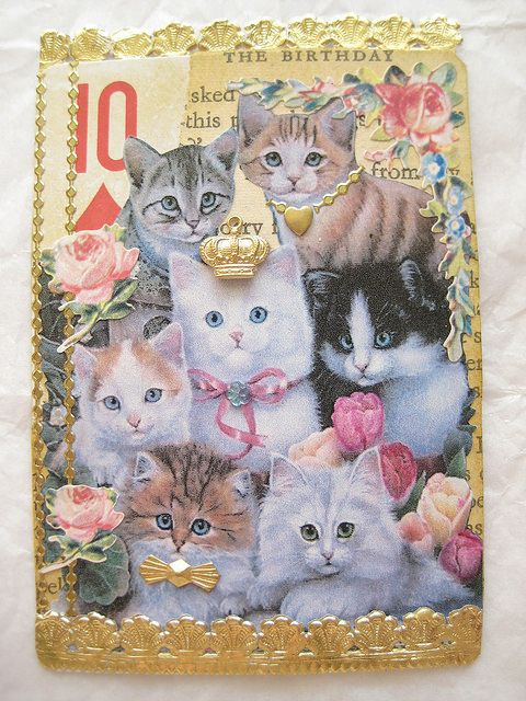 Vintage Altered Playing Card