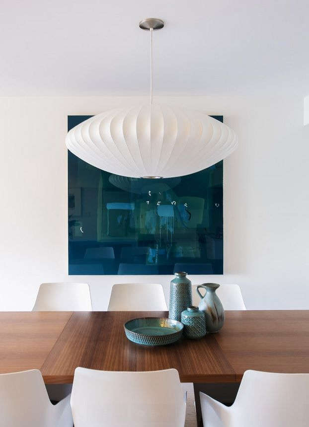 photo by: john bentley | George Nelson Bubble Lamp Saucer Pendant Lamp | http://modernica.net/saucer-lamp.html