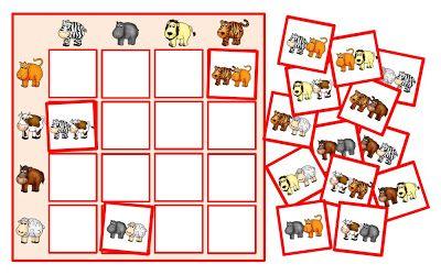 krabbelwiese: Reihenpuzzles mit Tieren