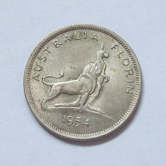 Australia 1954 Silver Coin Florin Royal Visit by greenlandturtle, $15.00