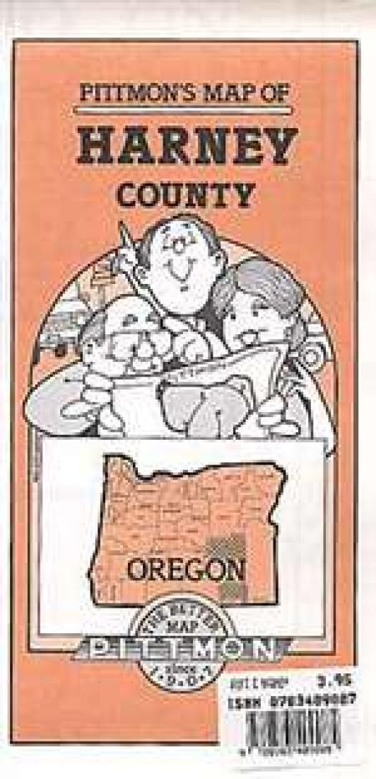Harney County, Oregon by Pittmon Map Company