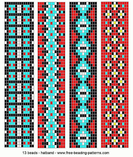 Loom Beading Patterns | hatband-loom-beadwork-020