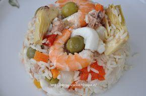 Lorena in cucina/Lorena in bucatarie: Salata de orez cu fructe de mare,ton,anghinare si ...