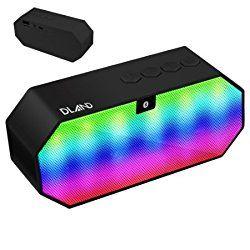 Bluetoothスピーカー,DLAND ポータブルワイヤレススピーカー LEDライト内蔵マイクと充電式バッテリー付きハンズフリー通話用 おすすめ度*1 ASIN B01AJL14FY Bluetooth対応コンパクトワイヤレススピーカー。 音響に合わせてLEDで前面が光るのが特徴。 このLEDは音量に合わせて光るので、動画や音楽を再生していてもミュートでは光らない。 ちなみに光り方はスペクトラムではなく、単純に音量の上下だけ影響する。 【1】外観・インターフェース・付属品 付属品は英語マニュアルとUSB充電とAUX入力を兼ねたケーブルが1本付属する。 本体上面に操作パネルがあり、Play/P…
