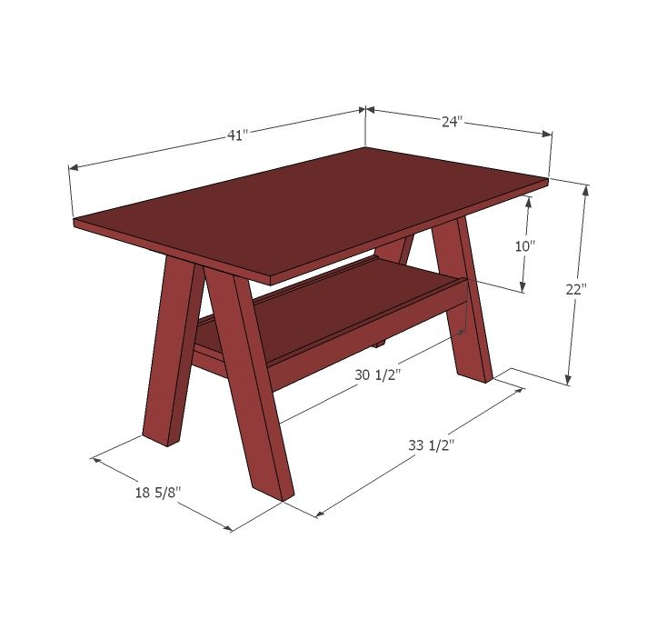 Kids Trestle Style Play Table For The Home Playroom