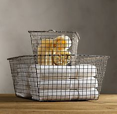 | Restoration Hardware find a basket at antiqu or flea market