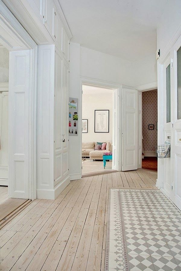 entry floor | painted floor | white walls | entry