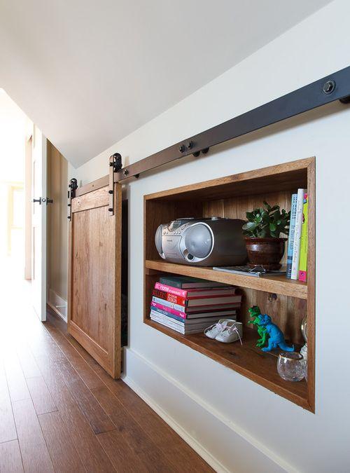 knee wall storage: thehousediaries.com