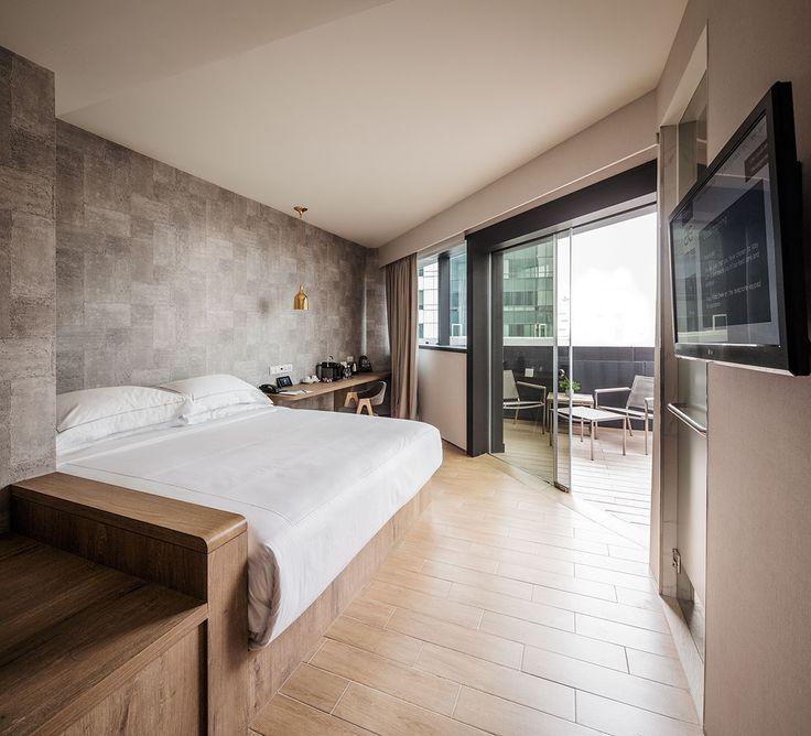 Singapore: BIG hotel interior. Neutral and cool tones ...