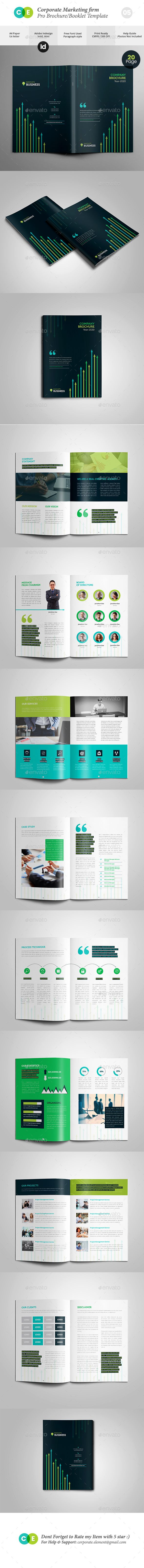 Corporate Marketing Firm Pro Brochure Template InDesign INDD
