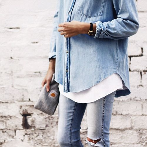Great denim shirt/jacket. I have this one, it look a lot like this one. http://asos.do/0TIZ7P