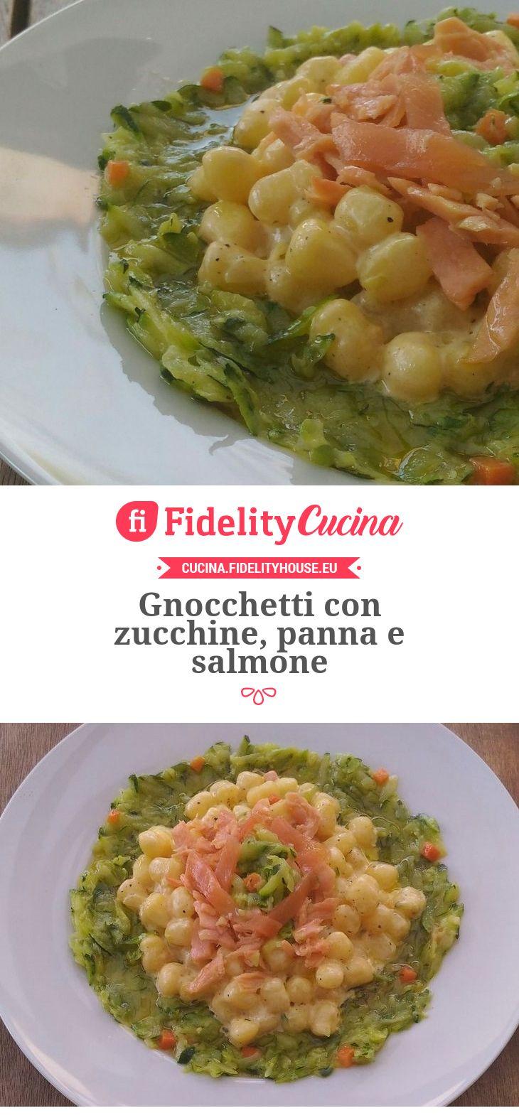 Gnocchetti con zucchine, panna e salmone