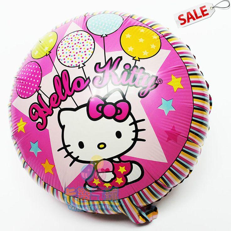 10 шт./лот 18 дюймов круглый привет котенок шар симпатичные globos для привет китти ну вечеринку на день рождения ну вечеринку привет котенок поставки balao де феста