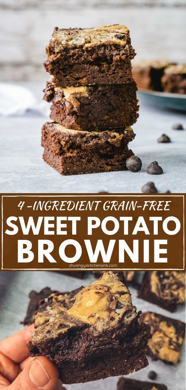 Flourless Sweet Potato Brownie (Paleo, Gluten Free)