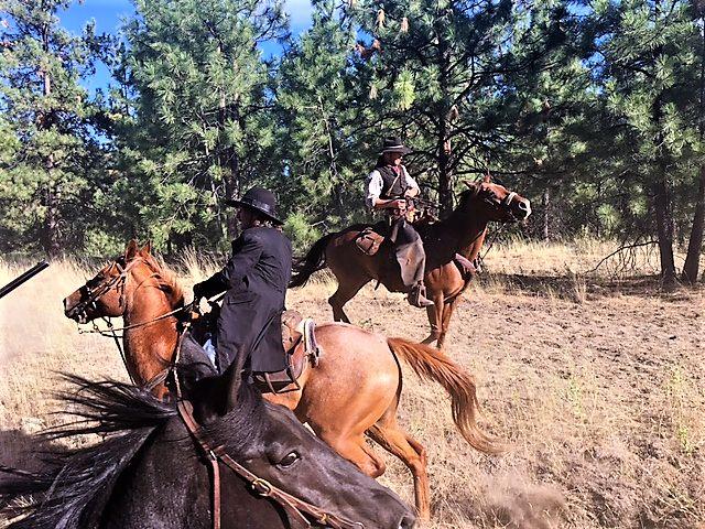 STEAL AWAY TIME TO ENJOY AN OKANAGAN TRAIN ROBBERY. The Okanagan Valley's epic train robbery in Summerland! Giddy-up. #play #horse #train #tour #tickettoride
