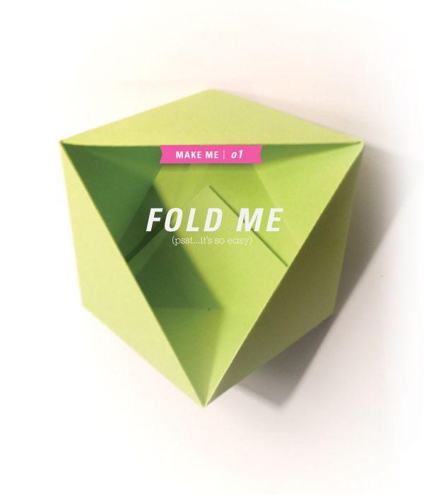 easy origami bowl DIY