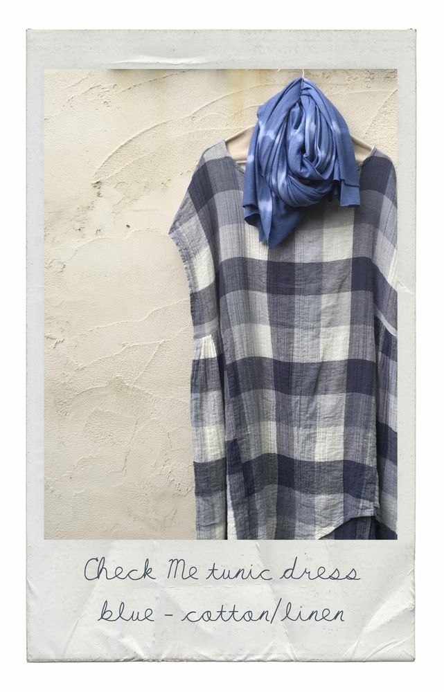 Checks are very 'on trend' this summer ;) Crinkle linen + cotton blend - machine wash and wear. Perfect over bather too! ONE SIZE - fits S...