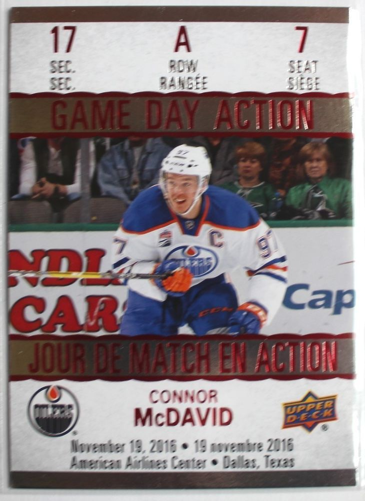 2017-18 Connor McDavid Tim Hortons Game Day Action Hockey Card - #GDA-7 | eBay
