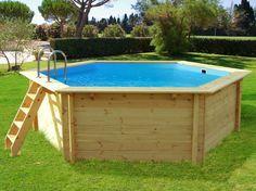 Piscine Carrefour promo piscine, la HABITAT et JARDIN Piscine bois HAWAI hexagonale - Dimensions : 4,10 x 1,18 m prix promo Carrefour.fr 1 4...