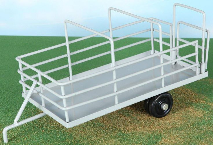 "Cattle Trailer Toy - You have them caught, now you need to haul them. Back up to your loading ramp with your Cattle Trailer. Now you're ready to move them to the next pen or pasture, or off to the sale barn they go. Cattle Trailer Toy is 15 3/4"" x 6 5/16"" x 7"". #littlebustertoys #kids #toys"