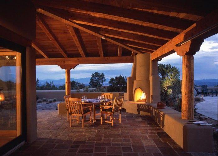 Beautiful Patio With Kiva Fireplace Home Decor That I