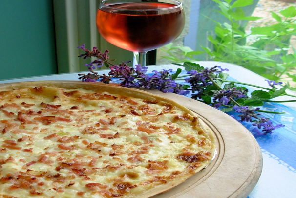 Cream Cheese, Onion & Bacon Tart (France Does Pizza!). Photo by French Tart